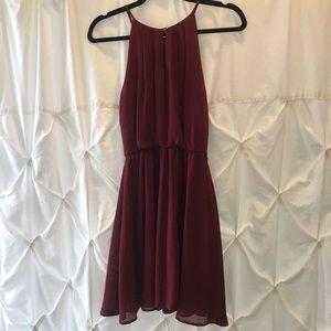 Sleeveless burgundy dress!